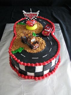 Cars Cake This cake idea came from one of the cake decoraters on cake central, and it turned out great. My nehpew turned three, and he...