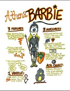 Design an ad for Mythology Barbie based on one of the Olympians -- from mythologyteacher.com