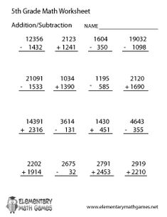Fifth graders will study percentages, add fractions, multiply decimals, and solve advanced multiplication, addition, and subtraction problems.
