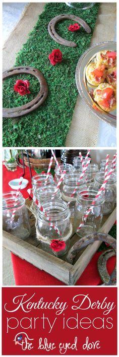 Easy DIY for a Kentucky Derby Party! theblueeyeddove.com #diy #parties #kentuckyderby #partyideas