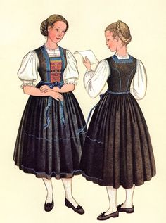 FolkCostume&Embroidery: Costumes of Tyrol Austria, Traditional Outfits, Disney Characters, Fictional Characters, Costumes, Embroidery, History, Disney Princess, German