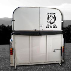 """Image of """"Caution Horses On Board"""" Vehicle Decal Car Decals, Vinyl Decals, Wall Prints, Toy Chest, Storage Chest, Vehicle, Boards, Horses, Image"""