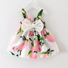 2016 New Baby Dress Infant girl dresses Lemon Print Baby Girls Clothes Slip Dress Princess Birthday Dress for Baby Girl #>=#>=#>=#>=#> Click on the pin to check out discount price, color, size, shipping, etc. Save and like it!