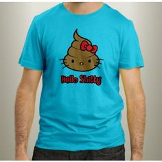 T-Shirt Aslan Maroc - Smile Collection Hello Shitty - Turquoise