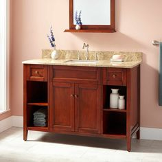 "48"" Caitlyn Vanity for Rectangular Undermount Sink - Medium Cherry"