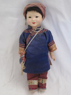 Ancienne Poupée Chinoise EN Composition Asiatique Japonnais | eBay
