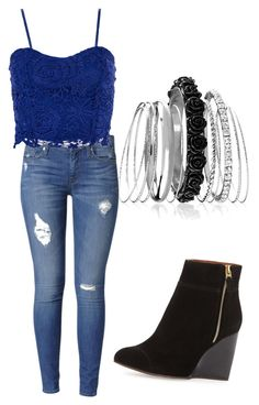 """Untitled #86"" by alybob on Polyvore featuring Avenue, Hudson Jeans, Lanvin and Dorothy Perkins"