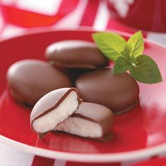 Peppermint Patties. These are so good.  Note:  I only use 2lbs. chocolate coating because I make them larger.