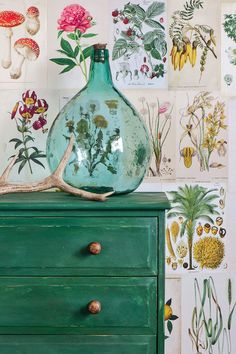Gorgeous NEW Chalk Paint® color Amsterdam Green on Dresser   Annie Sloan