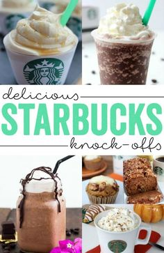 Be your own Barista with these Delicious Starbucks Knock-Offs that you can make at home!
