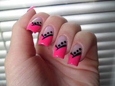 Pandora nails with bling on dots Fingernail Designs, Nail Art Designs, Cute Nails, Pretty Nails, Hair And Nails, My Nails, Nail Polish Style, Ladies Who Lunch, Finger Nail Art