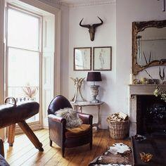 Modern rustic living room.