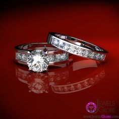vintage wedding ring sets for women beautiful two pcs. set..... Perfect