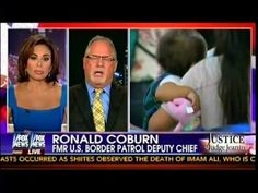 Judge Jeanine Pirro - Protests Around The Country Over Gov't Response To Immigration Crisis - Judge Jeanine starts off the segment with some statistics, that one in six illegals released into America is picked up on criminal charges within three years of their release date. Her guest, former Border Patrol Deputy Chief Ronald Coburn, agrees. He says that one in ten of the adult male border crashers entering the U.S. already has a violent criminal record in the United States  [...] 07/20