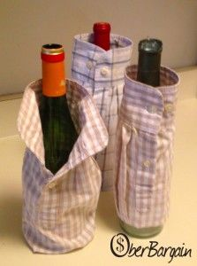 How to Make Wine Sleeves Recycled Crafts, Diy Crafts, Wine Bottle Covers, Creation Crafts, Making Shirts, Wine Making, Wine Gifts, Gift Bags, Crafty