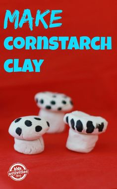 How to make your own sculpting clay with cornstarch. Fun activity for kids.