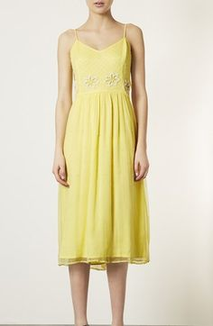 Topshop 'Debutante' Beaded Midi Dress available at #Nordstrom