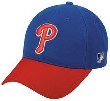 0f38bfc7b52 MLB ADULT Philadelphia PHILLIES Alternate Blue Hat Cap Adjustable Velcro  TWILL by OC Sports Team MLB