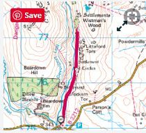 Route details hours Easy/moderate Wistman's Wood walking route and map Dartmoor National Park, Walking Routes, Go Outdoors, 5 Hours, Walks, National Parks, Map, Wood, Woodwind Instrument