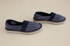Nautica Espadrilles Flat Shoes - Navy White Geometric DINGHEY Size 7.5 M NWOT #Nautica #Espadrilles #Casual