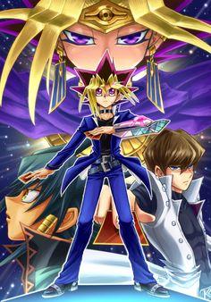 Yu-Gi-Oh! The Dark Side of Dimensions Seto Kaiba Yugi Muto Pharaoh Atem Aigami