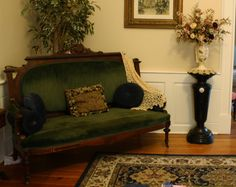 Antique Victorian Ebonized and Gilt Pedestal with Sevres Plaque Herter Brothers, Pottier & Stymus $2800
