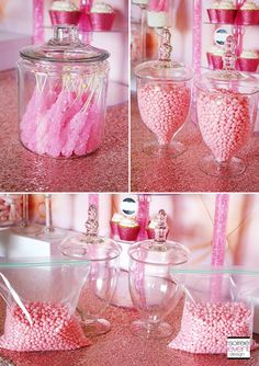 Learn How to Set Up a Candy Buffet step-by-step!find out How Much Does a Candy Buffet Really Cost and How Much Candy Do You Need for a Candy Table. Pink Candy Buffet, Lolly Buffet, Candy Buffet Tables, Dessert Buffet, Pink Candy Bars, Green Candy, Dessert Tables, Wedding Decor, Wedding Candy