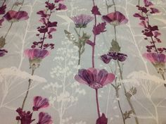 Items similar to Tablecloth grey purple green flowers Floral Botanical Modern Scandinavian Design ,also napkins , runners , curtains available, great GIFT on Etsy Green Flowers, Scandinavian Design, Linen Fabric, Glass Vase, Napkins, Great Gifts, Bathroom Curtains, Purple, Grey