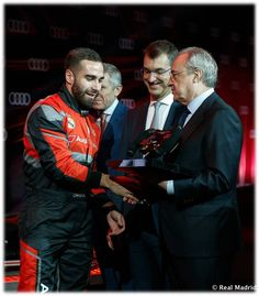 🏆CARVAJAL was the Winner!!🏆 Audi (Spain) organised a competition between #RM Players with formula E simulators...