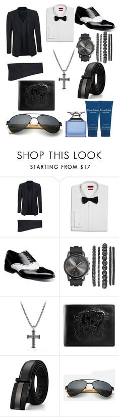 """Untitled #122"" by c-isabel1991 ❤ liked on Polyvore featuring Dolce&Gabbana, HUGO, Stacy Adams, David Yurman, Gucci, Tommy Bahama, men's fashion and menswear"