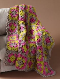 I'm totally making this granny square afghan for my grandma. I will probably change the colors out to make it purple, cream and turquoise though.