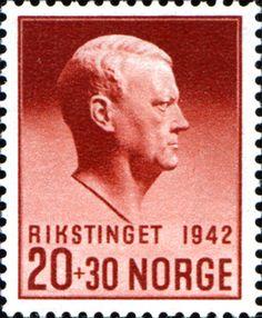 "Norge 1942 [MiNr 271, Sc B27] 20+30ø ""Vidkun Quisling, Rikstinget"""