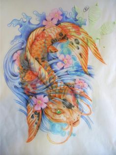 Demonstrating my skill in colored pencil more realistic take on the tattooed koi.