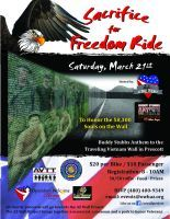 Anthem, AZ - March, 21, 2015: Sacrifice for Freedom motorcycle Ride. All charity proceeds will go to the AZ Wall Project where we will bring together a memorial, a museum and a park to honor veterans. www.facebook.com/azwallproject.