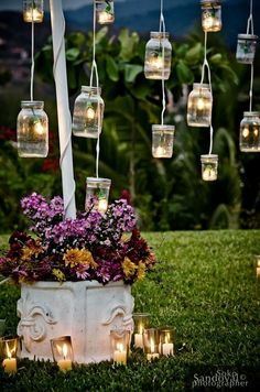 Vintage wedding reception decor vintage mason jars outdoor wedding decor id Vintage Mason Jars, Mason Jar Diy, Mason Jar Lamp, Outdoor Wedding Decorations, Light Decorations, Garden Decorations, Ceremony Decorations, Vintage Party Decorations, Outdoor Weddings