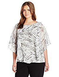 New Alfred Dunner Women's Plus Size 2fer Popover Flutter Sleeve Top With Necklace online. Find the perfect Fair Indigo Tops-Tees from top store. Sku IULO40117ANCC74710