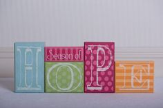 Cute Decor for #Easter and #Spring - Season of Hope Wood Block