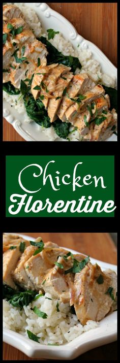 Chicken Florentine  -  Don't be intimidated by the name, this dish is crazy easy.  This is exactly the kind of dish you can impress your guests with but easy enough to prepare for your family for a week night dinner.
