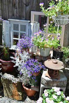 decoration jardin miroirs design