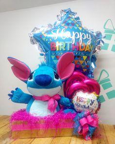 Birthday Diy, Happy Birthday, Teddy Bear Gifts, Balloon Arrangements, Baby Girl Accessories, Weird Gifts, Candy Bouquet, Diy Party, Birthday Celebration