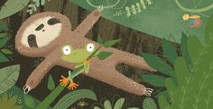 Young children book about a sleepy sloth that just won't wake up.