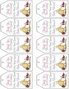 Pooh Baby Shower, Winnie The Pooh, Gift Tags – Free Printable Ideas … Baby Shower Tags, Shower Bebe, Baby Shower Favors, Shower Party, Baby Shower Parties, Baby Shower Themes, Baby Boy Shower, Baby Shower Decorations, Baby Shower Gifts