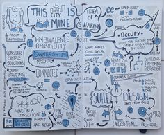 """Sketchnotes from Creative Citizens 2014 Keynote """"This City Is Mine"""" (Drawn By Makayla Lewis) 