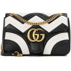Gucci GG Marmont Medium Matelassé Leather Shoulder Bag (43.945 ARS) ❤ liked on Polyvore featuring bags, handbags, shoulder bags, black, gucci purses, genuine leather shoulder bag, shoulder bag purse, 100 leather handbags and gucci