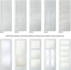 Interior Doors With Frosted Glass Panels: To Be Considered or Not? Interior Doors With Frosted Glass Panels: To Be Considered or Not? interior doors with frosted glass panels painted doors with panel or glass only at top GLMDMRT Shaker Interior Doors, Farmhouse Interior Doors, Interior Door Styles, Shaker Doors, 3 Panel Interior Doors, Interior Trim, Interior Design, Interior French Doors, Interior Ideas