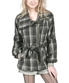 Take a look at this Black Plaid Tori Wool-Blend Coat by Heartloom on #zulily today!
