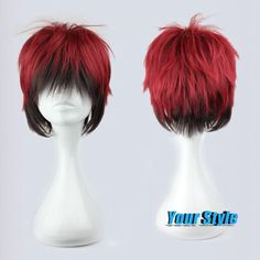 32cm 2016 Fashion Synthetic Short Wigs For Men Black and Red Short Hair Cut No Basuke Basket Kagami Taiga Wig Cosplay Anime -in Synthetic Wigs from Beauty & Health on Aliexpress.com | Alibaba Group
