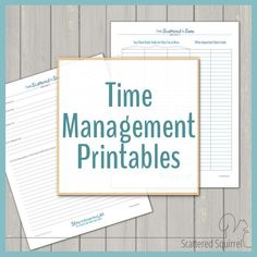 A great collection of time management printables to help you organize your time to fit your need, create routines and set and reach your goals. This page houses all the printables from the Time Management Series. Moving Organisation, Binder Organization, College Organization, Organizing Tips, Organising, Home Management Binder, Time Management Skills, Time Management Activities, Time Management Printable