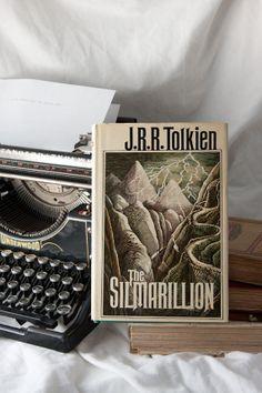 Vintage Fantasy Books The Silmarillion 1st by HudsonPulpAndRockets, $36.00
