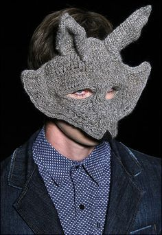 knitted fox/wolf mask.  very interesting...